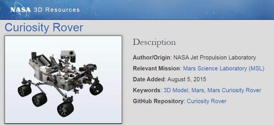 Projekty 3D do druku od NASA