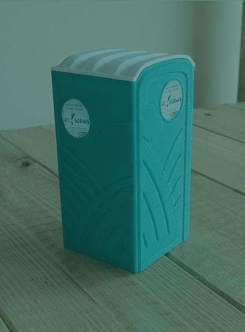 model toalety z druku 3d