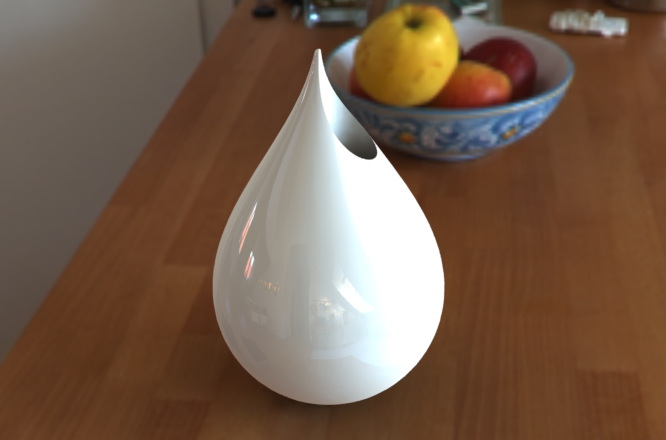 wazon z druku 3d droplet vase