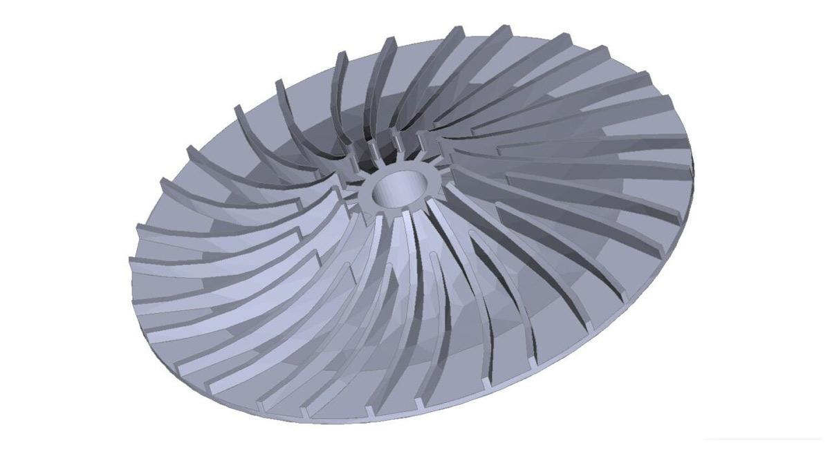 turbina respiratora z druku 3d